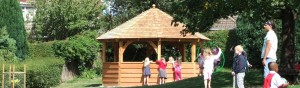 school grounds design timber structure
