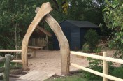 Arch to Forest School Garden