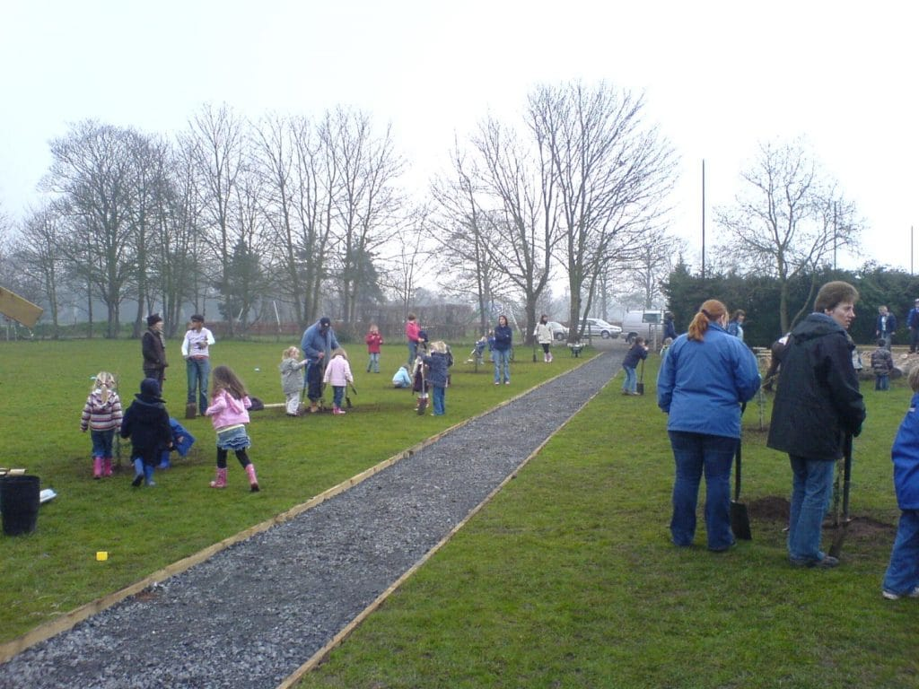 nature friendly school grounds and tree planting